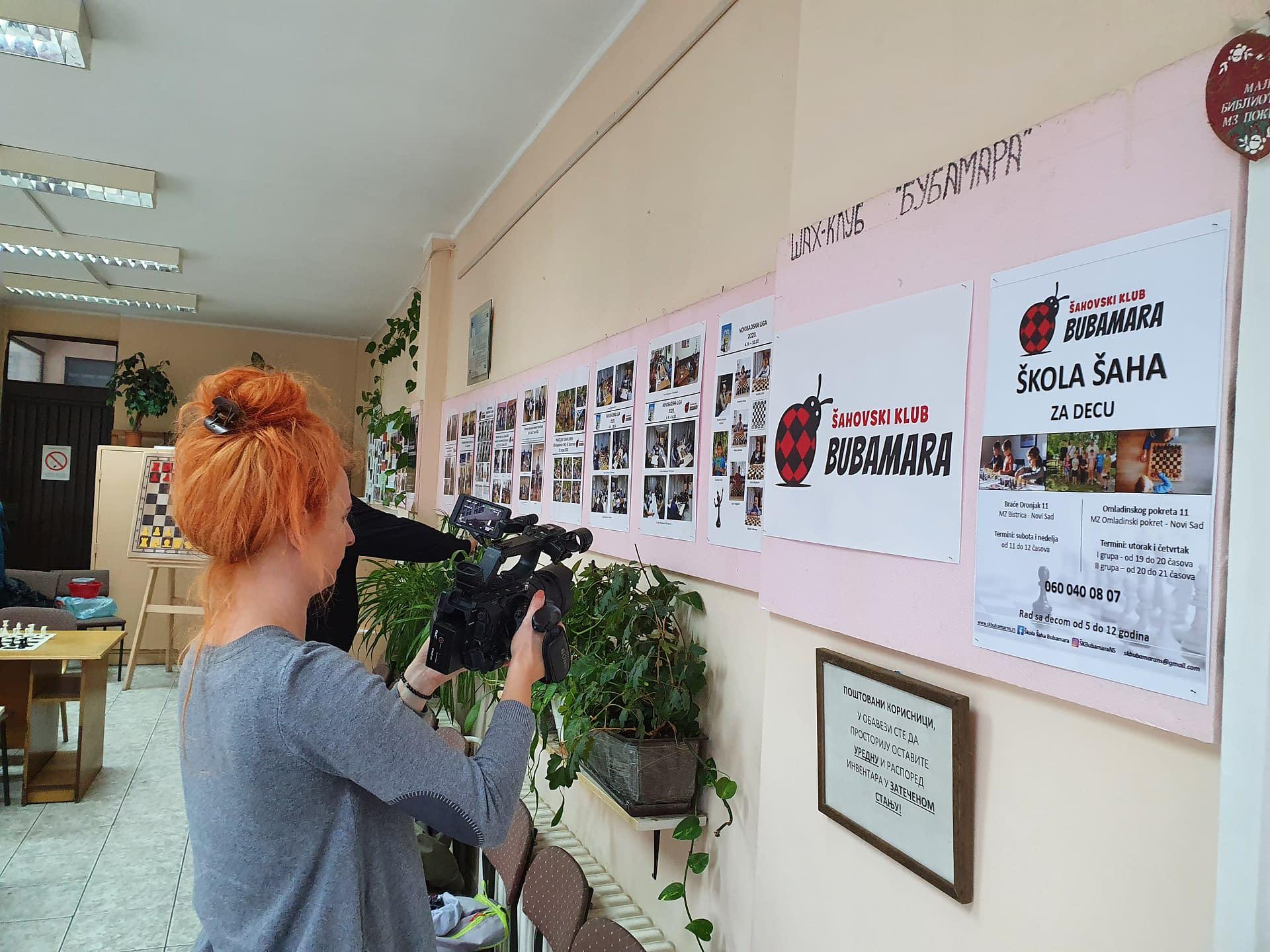 Školu šaha Bubamara posetila TV ekipa – 17.10.2020.